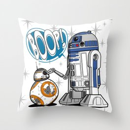 Master Of BOOP (BB8 Version) Throw Pillow