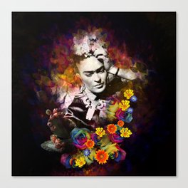 The colors of Frida Canvas Print