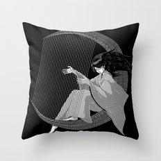 Crescent Melody Throw Pillow