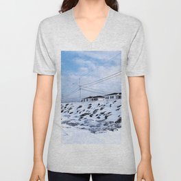 Sea Wall And Twin Houses Unisex V-Neck