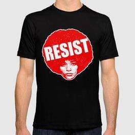 Angela Davis - Resist (red version) T-shirt