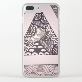 Triangle Sharpie Clear iPhone Case
