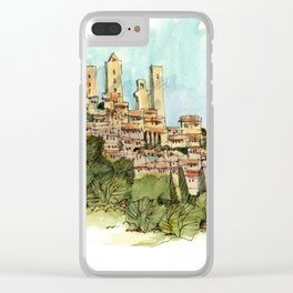 San Gimignano Hillside Clear iPhone Case