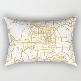 BEIJING CHINA CITY STREET MAP ART Rectangular Pillow