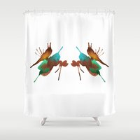 brown Shower Curtains featuring Brown by What do YOU see?