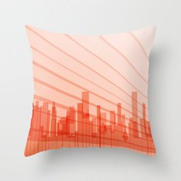 City Abstract Background Throw Pillow