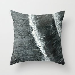 Black Sands of Iceland (2) Throw Pillow