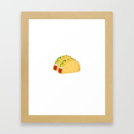 Did Someone Say Tacos? Funny Graphic T Shirt Taco Gym Lover Framed Art Print