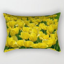 Field of Yellow Tulips Rectangular Pillow