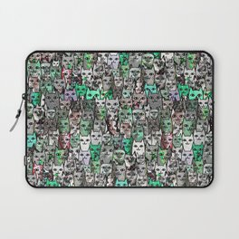 Forest Cats Green Watercolor Laptop Sleeve