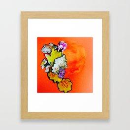 Garden Circle - Fire Framed Art Print