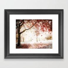 Scarlet and Snow Framed Art Print