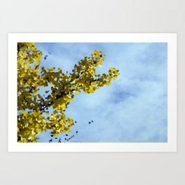 Fall Tree Abstract Art Print