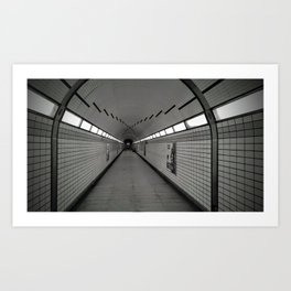 Loneliness in the subway Art Print