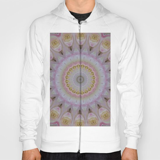 Mandala Of Yellow Roses Hoody