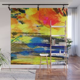 Art Abstraction 1A by Kathy Morton Stanion Wall Mural
