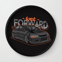 Sport Car Illustration Wall Clock