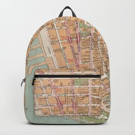 Vintage Map of Lower Manhattan (1921) Backpack