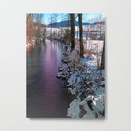 Quiet river in winter time Metal Print