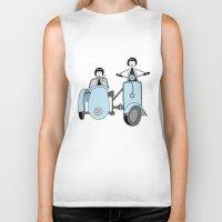 vespa Biker Tanks featuring Vespa by flapper doodle