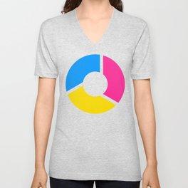 Pansexal Pride Flag Circle Unisex V-Neck