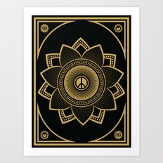 Peace Lotus Art Print
