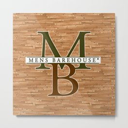 Mens Barehouse Wood Edition Metal Print