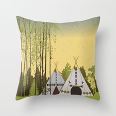 Tipis Throw Pillow
