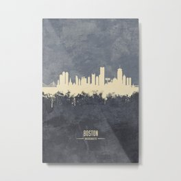 Boston Massachusetts Skyline Metal Print