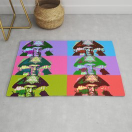 Aleister Crowley Pop Art Rug