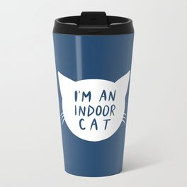 Indoor Cat (silhouette) Metal Travel Mug