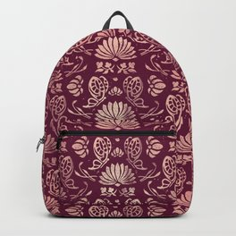 Classic Floral Pattern Backpack