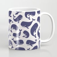 moby dick Mugs featuring Moby Dick - White by Drivis