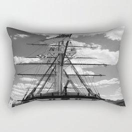Baltimore Harbor - USS Constellation Rectangular Pillow