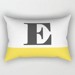 Monogram Letter E-Pantone-Buttercup Rectangular Pillow