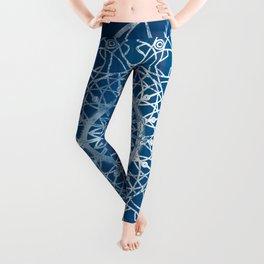 Fire Blossom - Blue Leggings