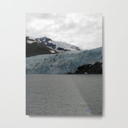 TEXTURES -- A Face of Portage Glacier Metal Print