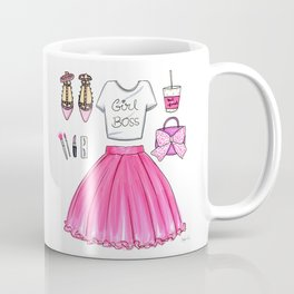 Girl Boss Fashion Illustration Coffee Mug