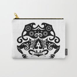 Borneo-Shirt .:sneering beast - BW Carry-All Pouch