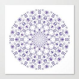 Ultraviolet spring floral  Mandala Canvas Print
