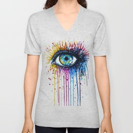 """""""Rainbow Eye"""" Unisex V-Neck"""