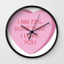 Veronica Corningstone Conversation Heart Wall Clock