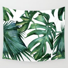 Simply Island Palm Leaves Wall Tapestry