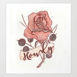 Howdy Art Print