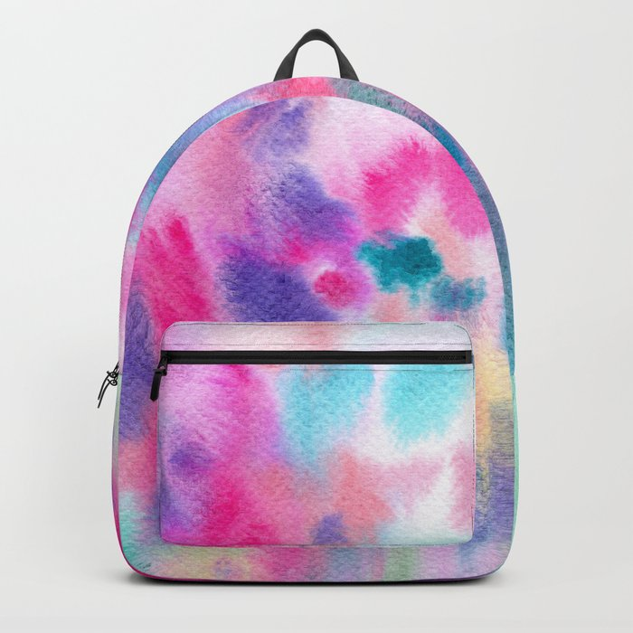 Colorful vibes || watercolor Backpack