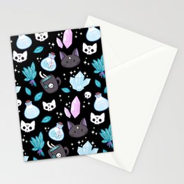 Herb Witch // Black Stationery Cards