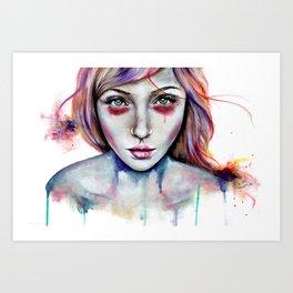 Seeing You Heterochromia Art Print