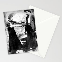 Painting Of Bonnie and Clyde Mock Robert Photo Stationery Cards