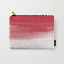 Red abstract brush strokes pattern Carry-All Pouch