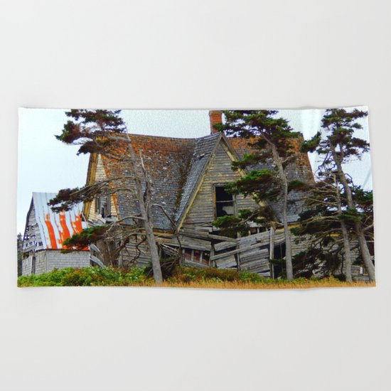 Abandoned Collapsing Homestead Beach Towel
